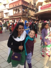 With Raavi (Amanda's daughter) outside the Golden Temple